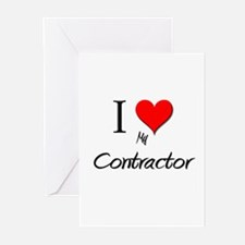 I Love My Contractor Greeting Cards (Pk of 10)
