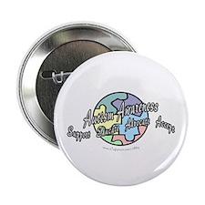 "Autism Awareness Globe 2.25"" Button (10 pack)"