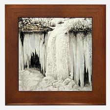 Frozen Falls Framed Tile