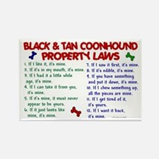 Black & Tan Coonhound Property Laws 2 Rectangle Ma