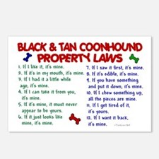 Black & Tan Coonhound Property Laws 2 Postcards (P