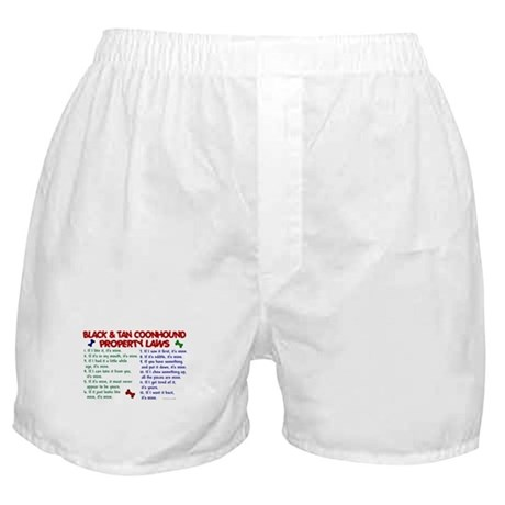 Black & Tan Coonhound Property Laws 2 Boxer Shorts