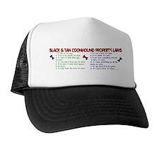 Black & Tan Coonhound Property Laws 2 Trucker Hat