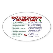 Black & Tan Coonhound Property Laws 2 Decal
