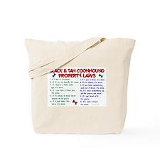 Black & Tan Coonhound Property Laws 2 Tote Bag