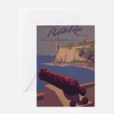 Puerto Rico, USA - Vintage Travel Poster Greeting