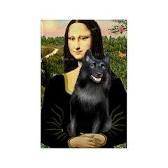 Mona's Schipperke (#5) Rectangle Magnet