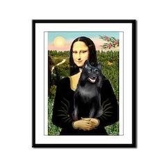 Mona's Schipperke (#5) Framed Panel Print