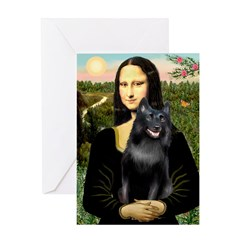Mona's Schipperke (#5) Greeting Card