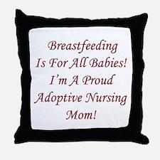 Adoptive Breastfeeding Advocacy Throw Pillow