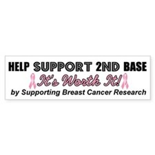 Help Support 2nd Base Bumper Bumper Sticker