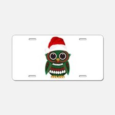 Christmas Owl Aluminum License Plate