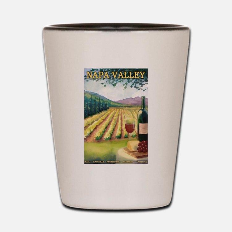 Napa Valley, California - Wine Country Shot Glass