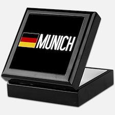 Germany: German Flag & Munich Keepsake Box
