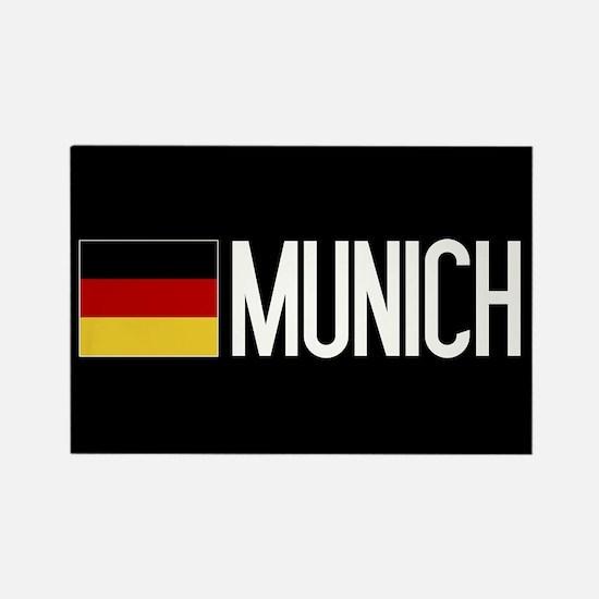 Germany: German Flag & Munich Rectangle Magnet