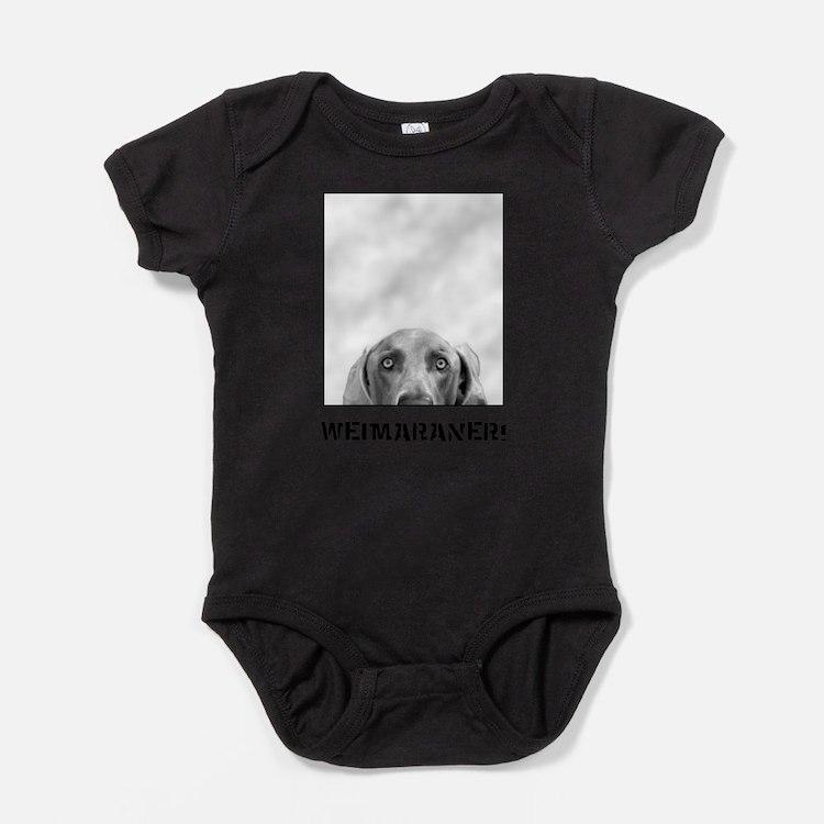 Cute Weimeraner Baby Bodysuit