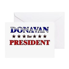 DONAVAN for president Greeting Card