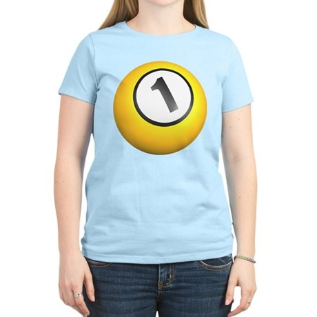 Billiards One Ball Women's Light T-Shirt