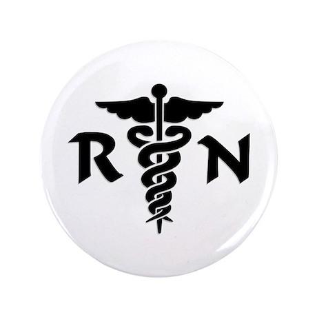 "RN Medical Symbol 3.5"" Button"