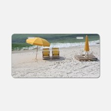 Cute Yellow umbrella Aluminum License Plate