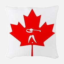Team Golf Canada Woven Throw Pillow