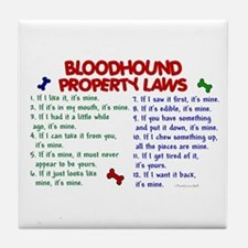 Bloodhound Property Laws 2 Tile Coaster