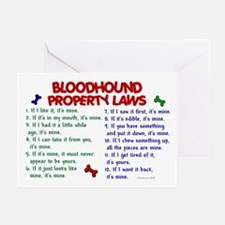 Bloodhound Property Laws 2 Greeting Cards (Pk of 2