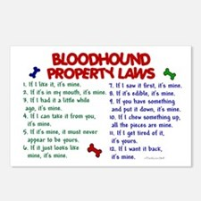 Bloodhound Property Laws 2 Postcards (Package of 8