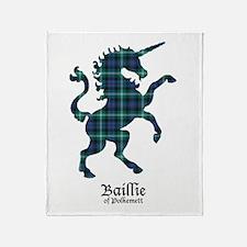 Unicorn - Ballie of Polkemett Throw Blanket