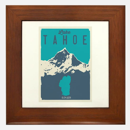 Cute Squaw valley Framed Tile