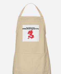 All Dishes We Do Fresh Cook To You -- BBQ Apron