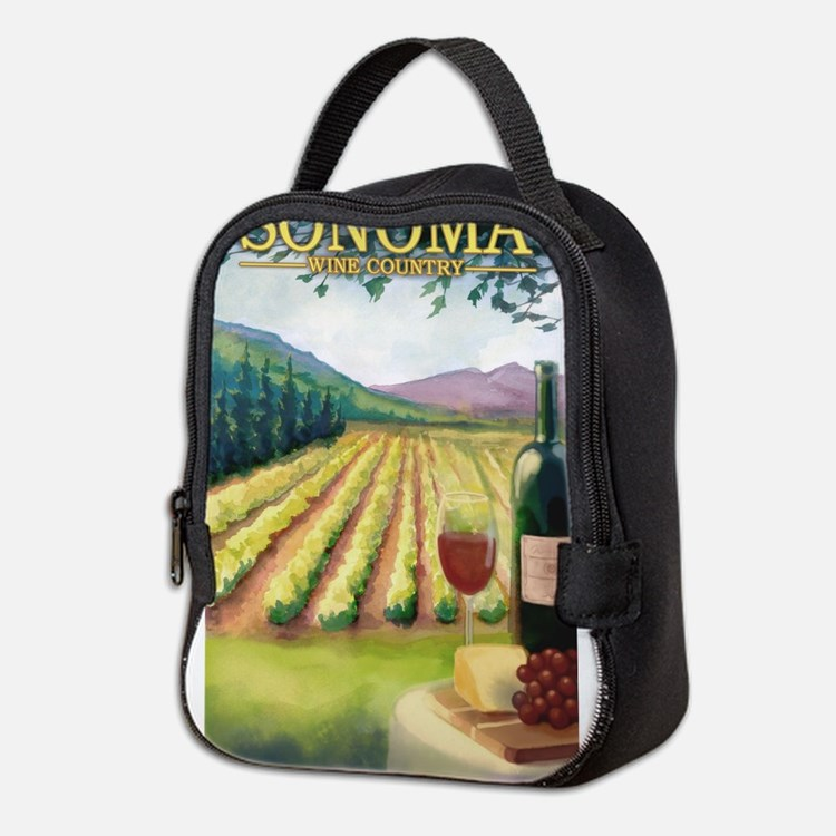 Sonoma County Wine Country Neoprene Lunch Bag