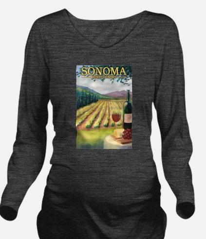 Sonoma County Wine Country Long Sleeve Maternity T