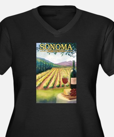 Sonoma County Wine Country Plus Size T-Shirt