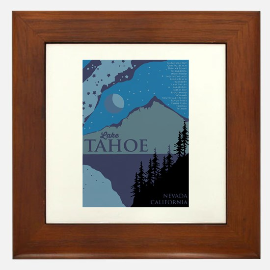 Funny Squaw valley Framed Tile