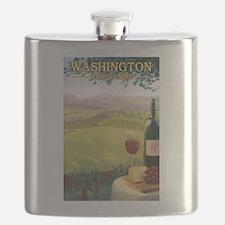Washington Wine Country Flask
