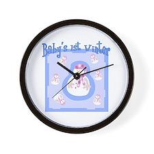 Baby's 1st Winter (boy) Wall Clock