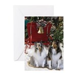 Sheltie Sleigh Christmas Greeting Cards (Pk of 20)