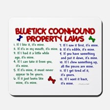 Bluetick Coonhound Property Laws 2 Mousepad