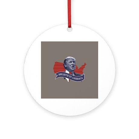 Believe In America Trump Ornament