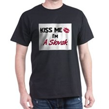 Kiss me I'm A Slovak T-Shirt