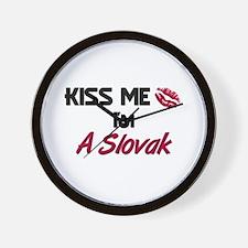 Kiss me I'm A Slovak Wall Clock