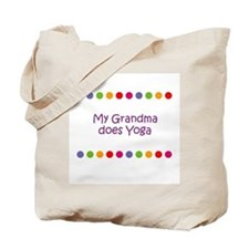 My Grandma does Yoga Tote Bag