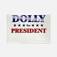 DOLLY for president Rectangle Magnet