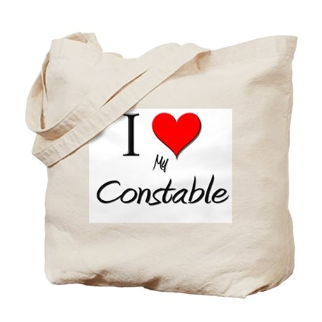 I Love My Constable Tote Bag