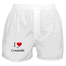 I Love My Constable Boxer Shorts