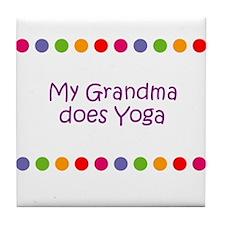 My Grandma does Yoga Tile Coaster