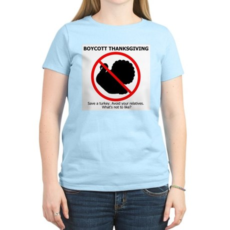 Boycott Thanksgiving Women's Light T-Shirt