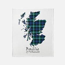 Map - Baillie of Polkemett Throw Blanket