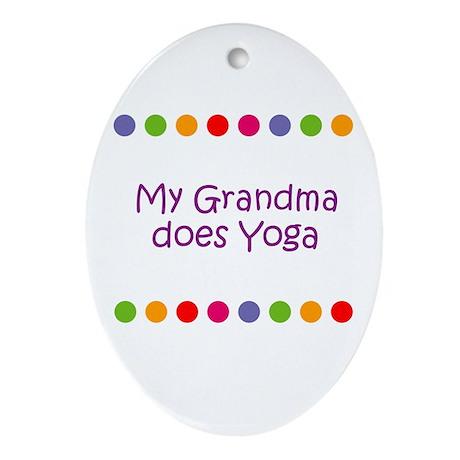 My Grandma does Yoga Oval Ornament